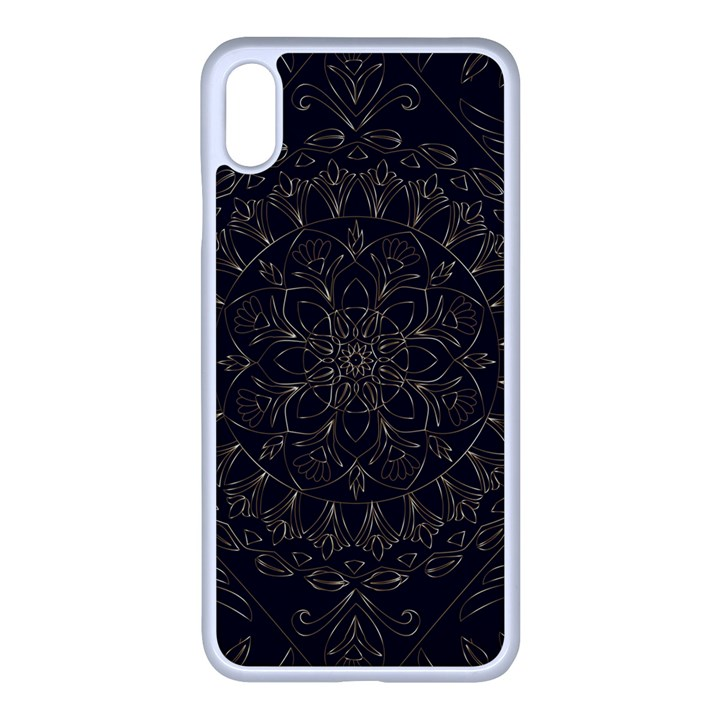 Floral Flowers Flourish Decorative iPhone XS Max Seamless Case (White)