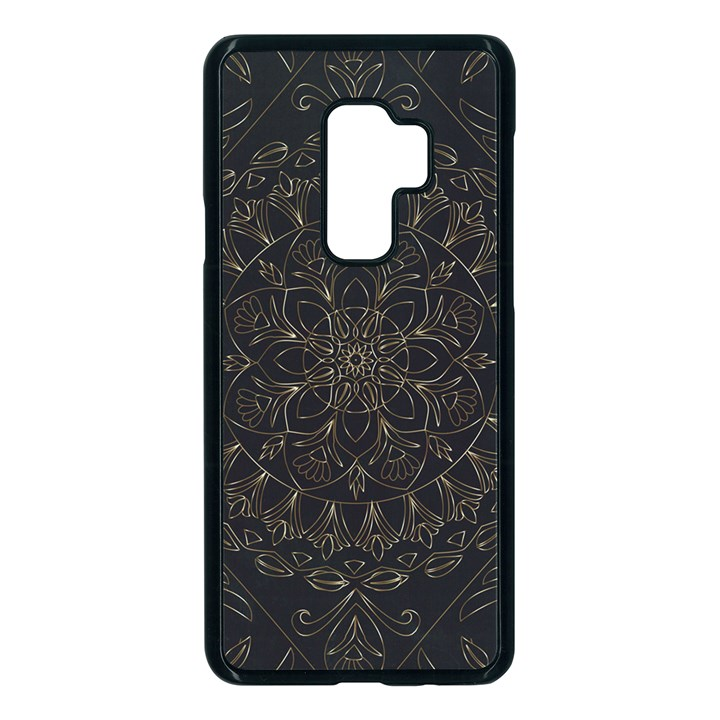 Floral Flowers Flourish Decorative Samsung Galaxy S9 Plus Seamless Case(Black)
