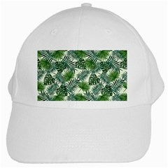 Leaves Tropical Wallpaper Foliage White Cap