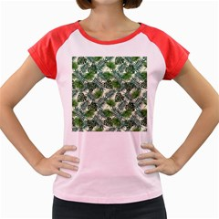 Leaves Tropical Wallpaper Foliage Women s Cap Sleeve T-Shirt