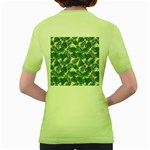 Leaves Tropical Wallpaper Foliage Women s Green T-Shirt Back