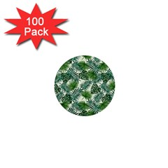 Leaves Tropical Wallpaper Foliage 1  Mini Buttons (100 pack)
