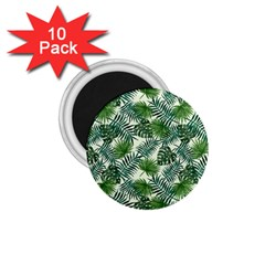 Leaves Tropical Wallpaper Foliage 1.75  Magnets (10 pack)