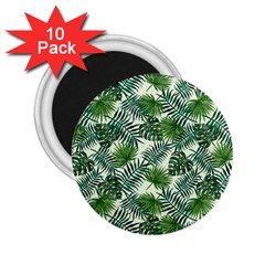 Leaves Tropical Wallpaper Foliage 2.25  Magnets (10 pack)