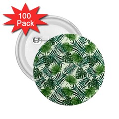 Leaves Tropical Wallpaper Foliage 2.25  Buttons (100 pack)