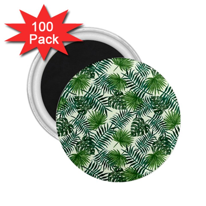 Leaves Tropical Wallpaper Foliage 2.25  Magnets (100 pack)