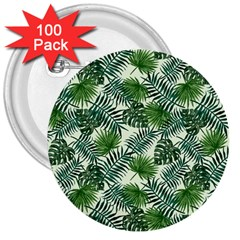 Leaves Tropical Wallpaper Foliage 3  Buttons (100 pack)
