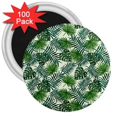 Leaves Tropical Wallpaper Foliage 3  Magnets (100 pack)