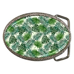 Leaves Tropical Wallpaper Foliage Belt Buckles