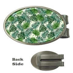 Leaves Tropical Wallpaper Foliage Money Clips (Oval)