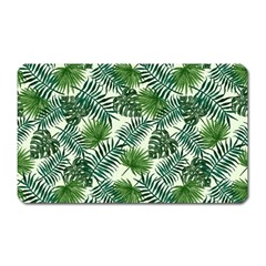 Leaves Tropical Wallpaper Foliage Magnet (Rectangular)