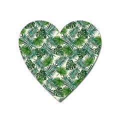 Leaves Tropical Wallpaper Foliage Heart Magnet