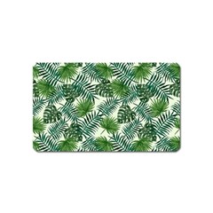 Leaves Tropical Wallpaper Foliage Magnet (Name Card)