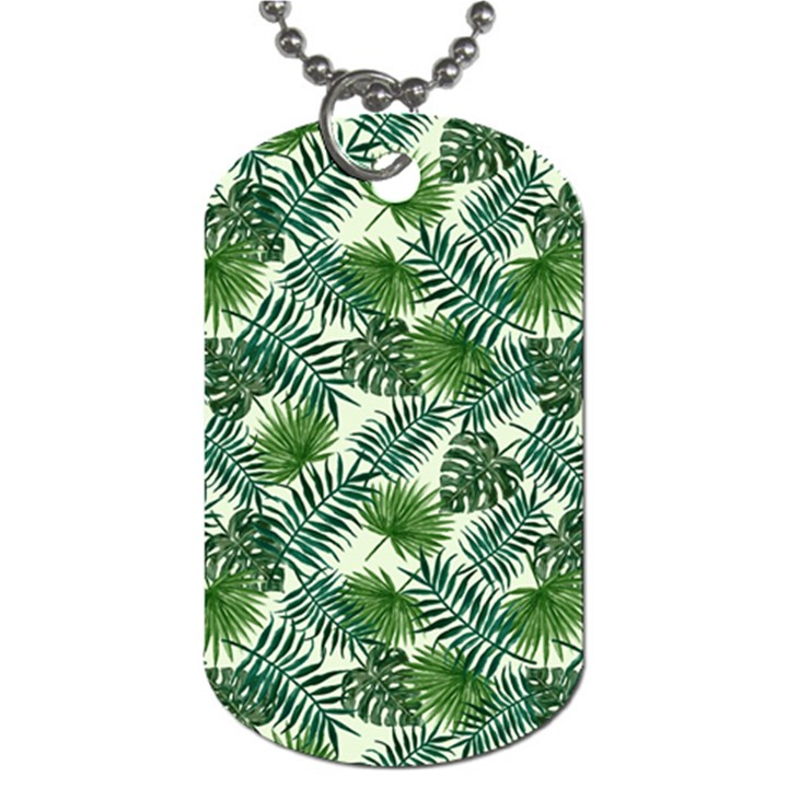 Leaves Tropical Wallpaper Foliage Dog Tag (One Side)