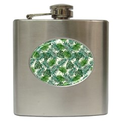 Leaves Tropical Wallpaper Foliage Hip Flask (6 oz)