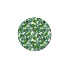 Leaves Tropical Wallpaper Foliage Golf Ball Marker (4 pack)