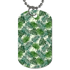 Leaves Tropical Wallpaper Foliage Dog Tag (Two Sides)
