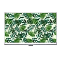 Leaves Tropical Wallpaper Foliage Business Card Holder