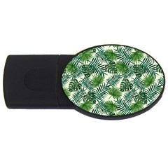 Leaves Tropical Wallpaper Foliage USB Flash Drive Oval (2 GB)