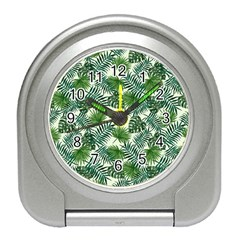 Leaves Tropical Wallpaper Foliage Travel Alarm Clock