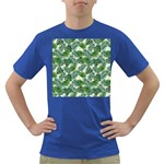 Leaves Tropical Wallpaper Foliage Dark T-Shirt Front