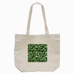 Leaves Tropical Wallpaper Foliage Tote Bag (Cream)