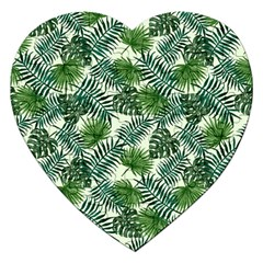 Leaves Tropical Wallpaper Foliage Jigsaw Puzzle (heart) by Pakrebo