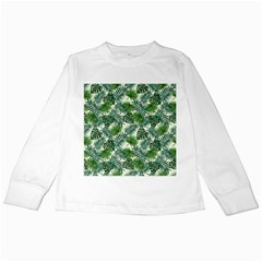 Leaves Tropical Wallpaper Foliage Kids Long Sleeve T-Shirts