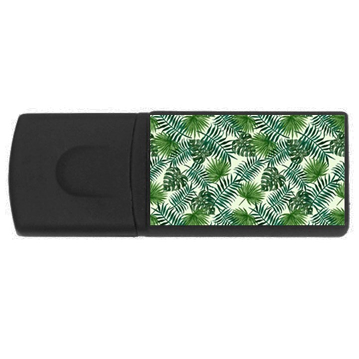 Leaves Tropical Wallpaper Foliage Rectangular USB Flash Drive