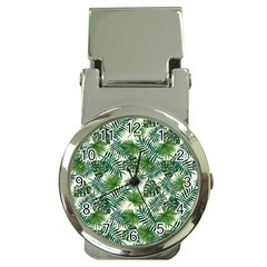 Leaves Tropical Wallpaper Foliage Money Clip Watches