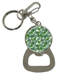 Leaves Tropical Wallpaper Foliage Bottle Opener Key Chain