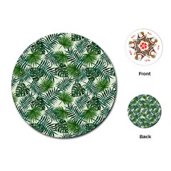 Leaves Tropical Wallpaper Foliage Playing Cards Single Design (Round)