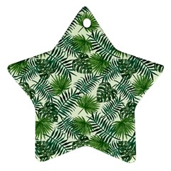 Leaves Tropical Wallpaper Foliage Star Ornament (Two Sides)