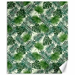 Leaves Tropical Wallpaper Foliage Canvas 8  x 10