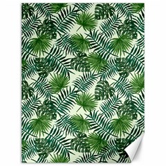 Leaves Tropical Wallpaper Foliage Canvas 12  x 16