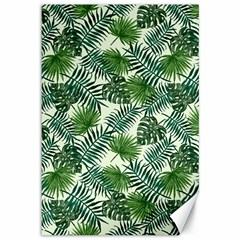 Leaves Tropical Wallpaper Foliage Canvas 12  x 18