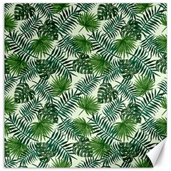 Leaves Tropical Wallpaper Foliage Canvas 20  x 20