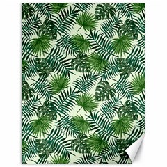 Leaves Tropical Wallpaper Foliage Canvas 18  x 24