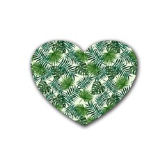 Leaves Tropical Wallpaper Foliage Heart Coaster (4 pack)