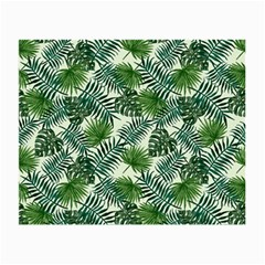 Leaves Tropical Wallpaper Foliage Small Glasses Cloth (2 Sides)