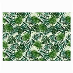 Leaves Tropical Wallpaper Foliage Large Glasses Cloth (2 Sides)