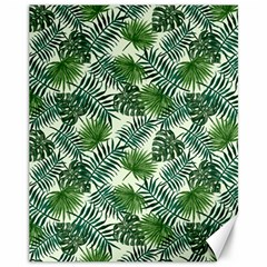 Leaves Tropical Wallpaper Foliage Canvas 11  x 14