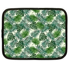 Leaves Tropical Wallpaper Foliage Netbook Case (Large)