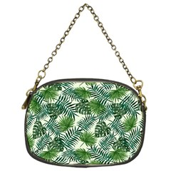 Leaves Tropical Wallpaper Foliage Chain Purse (one Side) by Pakrebo