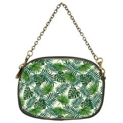 Leaves Tropical Wallpaper Foliage Chain Purse (Two Sides)