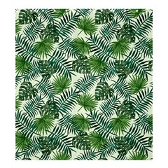 Leaves Tropical Wallpaper Foliage Shower Curtain 66  x 72  (Large)