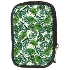 Leaves Tropical Wallpaper Foliage Compact Camera Leather Case