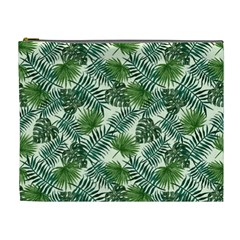 Leaves Tropical Wallpaper Foliage Cosmetic Bag (XL)