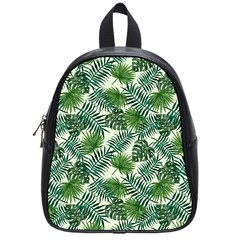 Leaves Tropical Wallpaper Foliage School Bag (Small)