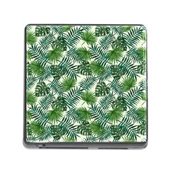 Leaves Tropical Wallpaper Foliage Memory Card Reader (Square 5 Slot)